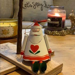 "6"" metal tin Santa Claus🎅 Christmas tree ornament"
